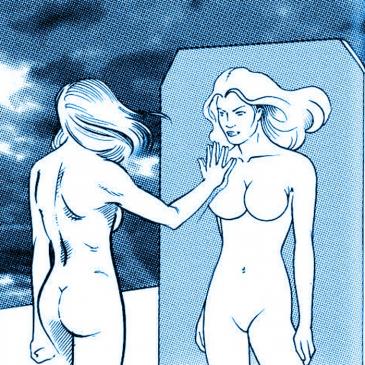 Alice, davanti allo specchio